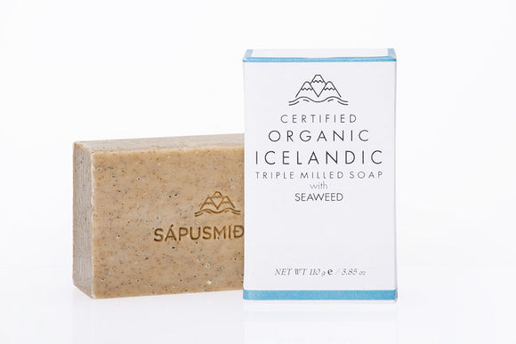 Organic Soap Bar - Seaweed and Rosemary (110 gr) - Topiceland