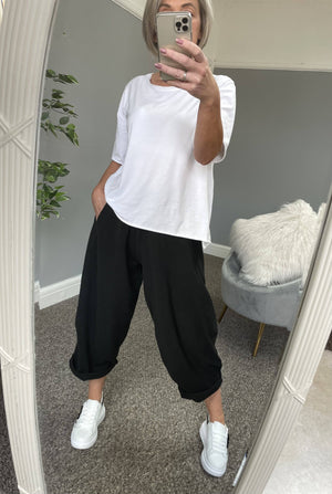 Georgia Cocoon Pants 8-20 Black - Susie's Boutique