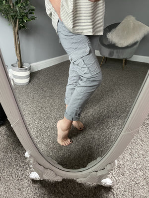 Ivana Cargo Magic Trousers 8-16 Grey