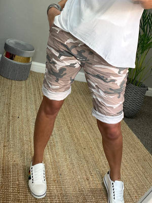 Ava Camouflage Magic Shorts 8-16 Pink - Susie's Boutique