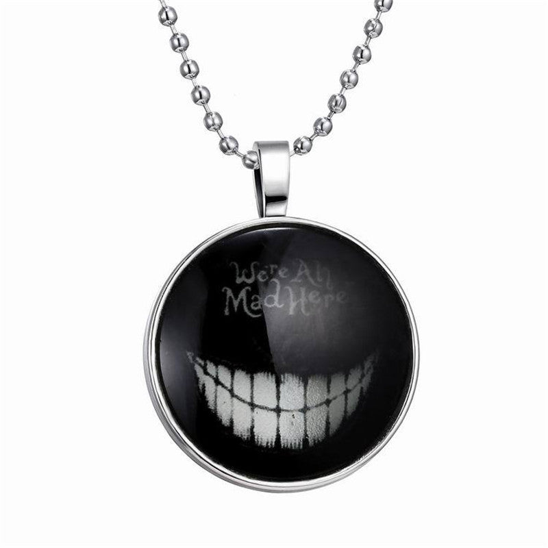 Punk Halloween Creative Expression Glow Necklace Fashion Glass Halloween Necklace Glowing Jewelry