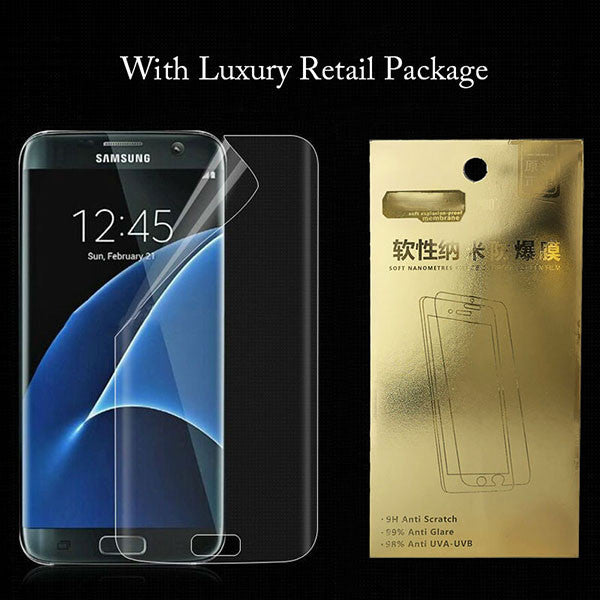 3D Curved Cambered Full Coverage Soft PET Film Screen Protector For Samsung Galaxy S8 S8+ Plus (Not Tempered Glass) Full Cover