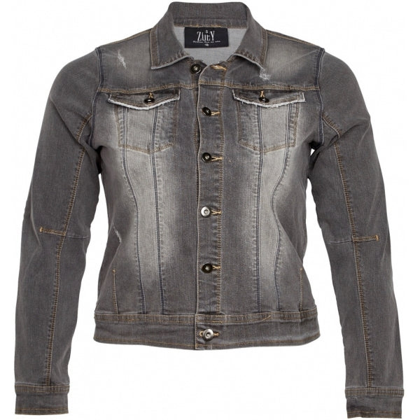 Jeansvest used antraciet