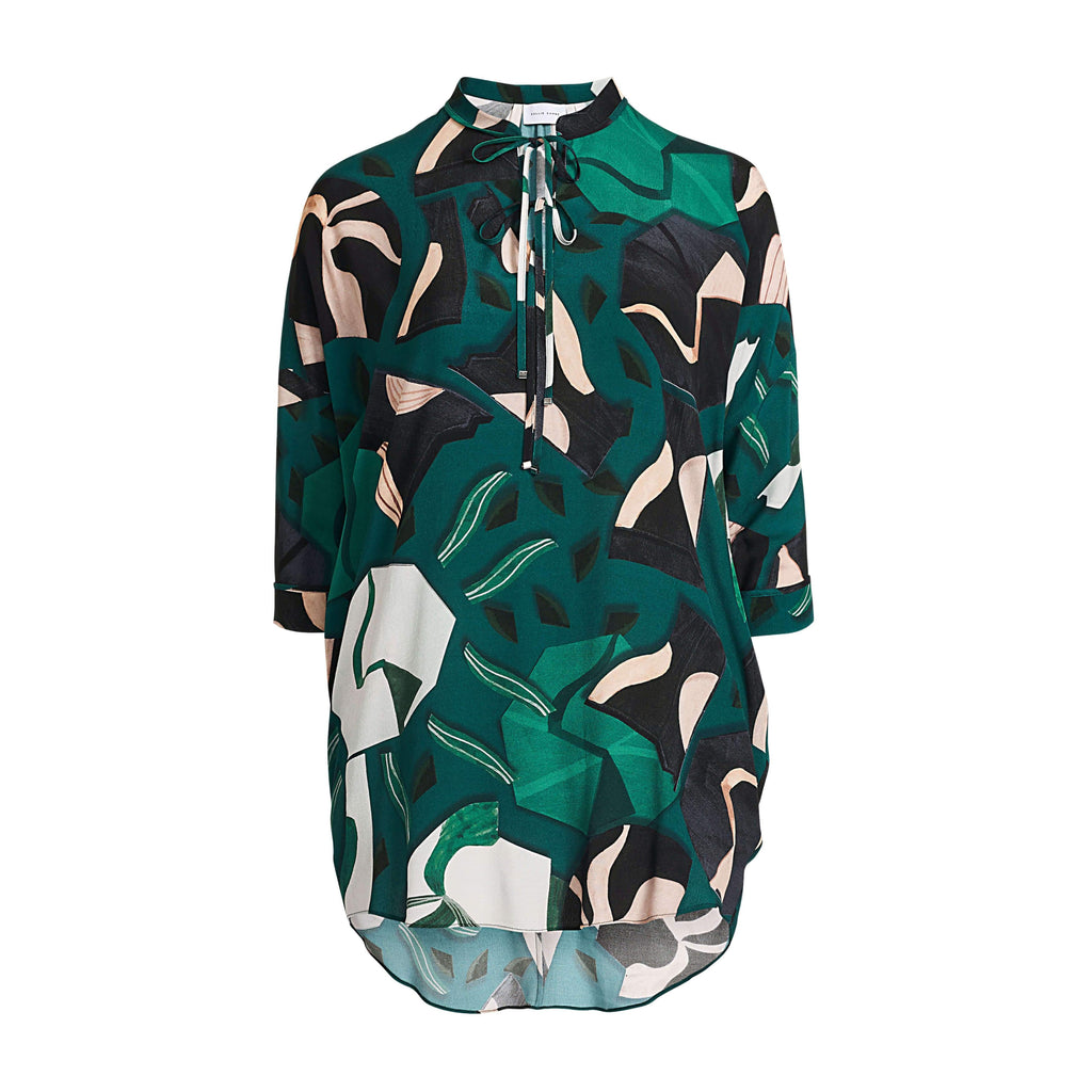 Blouse leaves Hill groen