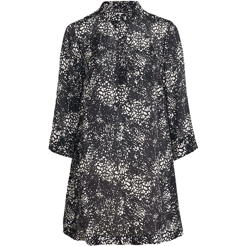 Hemdblouse black design zwart