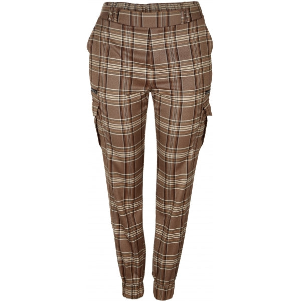 Broek Ruth geruit chocolate