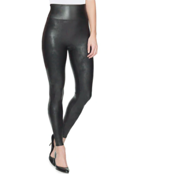 Legging Faux leather zwart