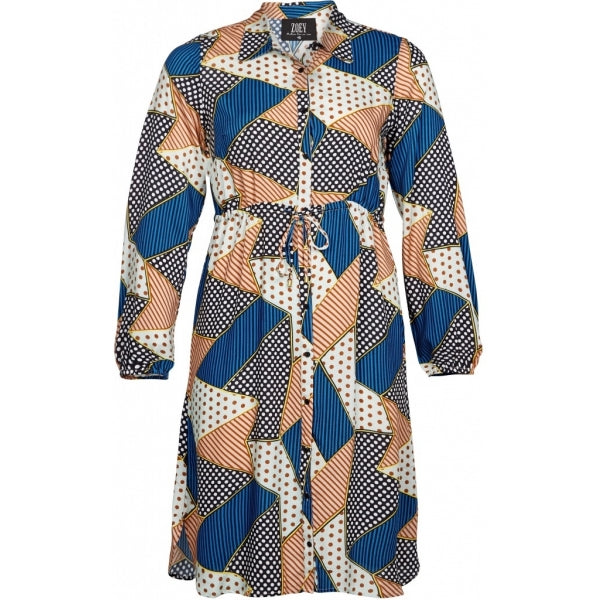 Long shirt print mix munt
