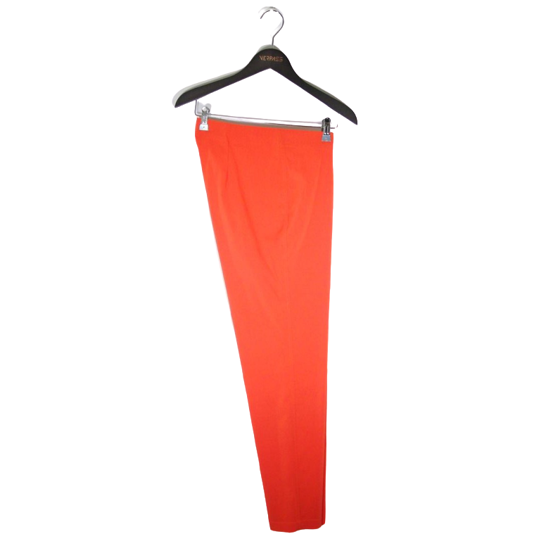 Broek slim legs stretch oranje