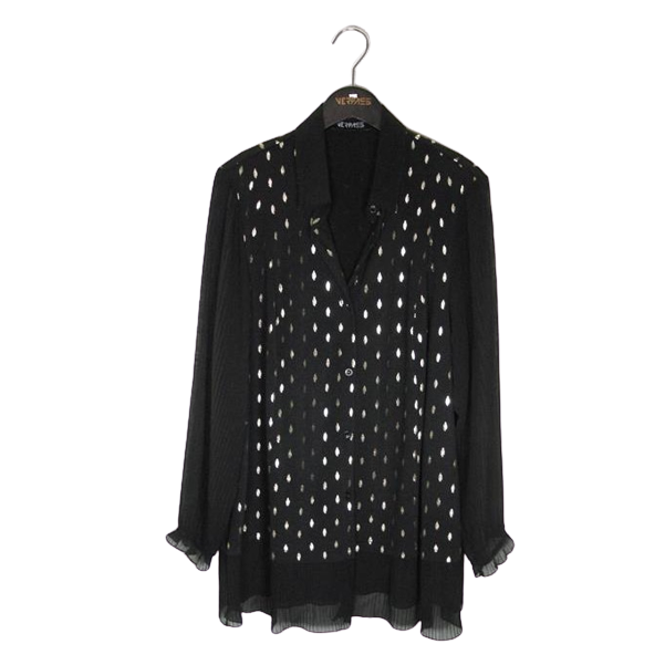 Blouse mix dots zw