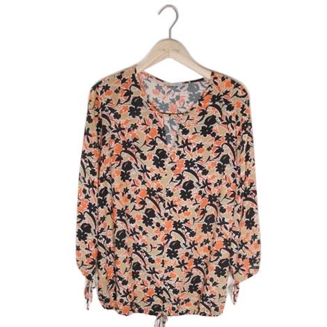 Blouse print or/camel