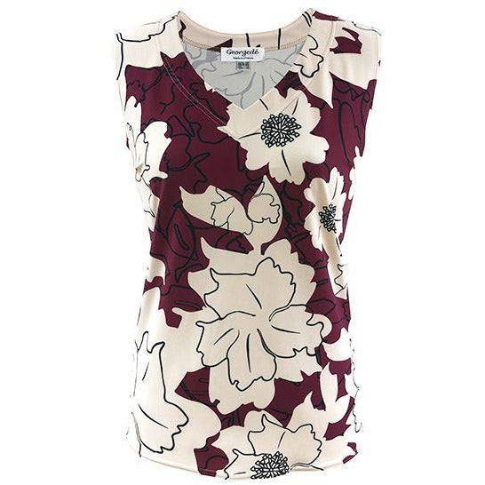 Top print bordeaux/yvoor