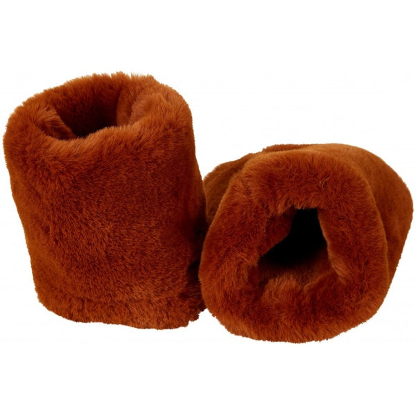 Mouw cuffs fake fur roest
