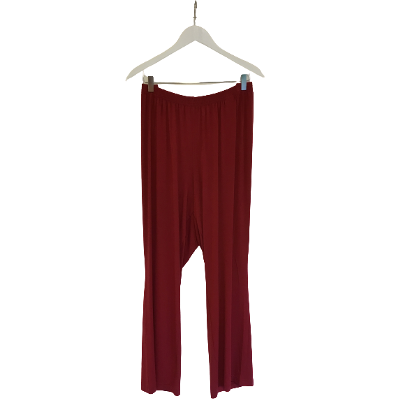 Broek los dark red