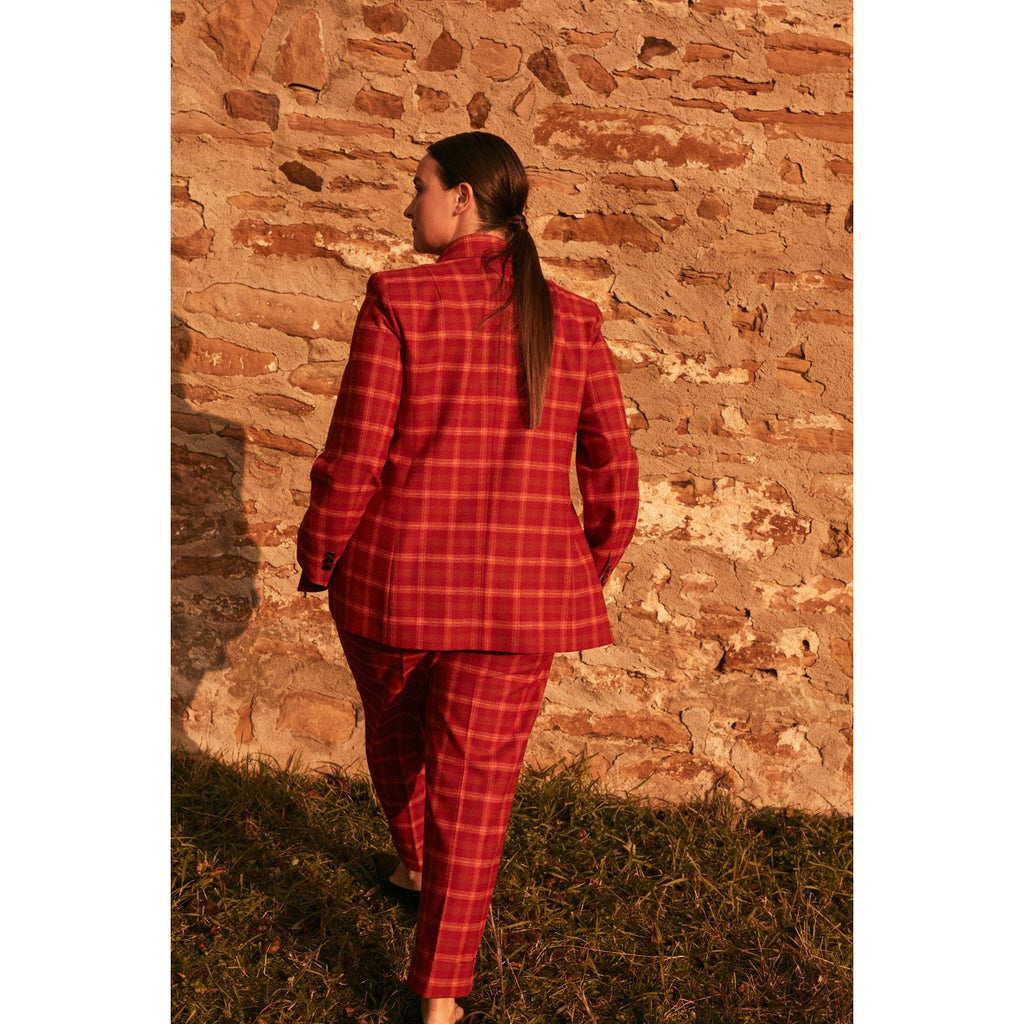 Blazer ruit rood/or
