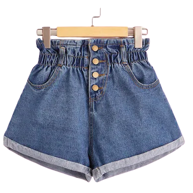 Short hoge taille denim