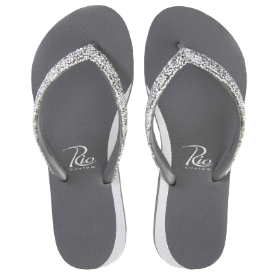Slippers Rio Crystal zilver