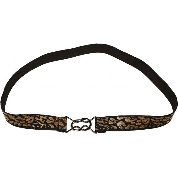 Riem stretch animal zwart