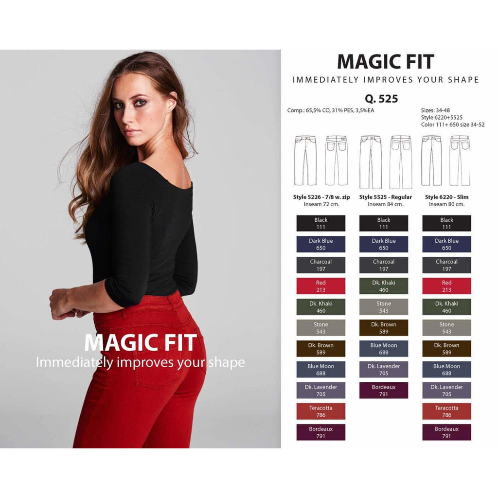 Broek Magic fit reg zwart