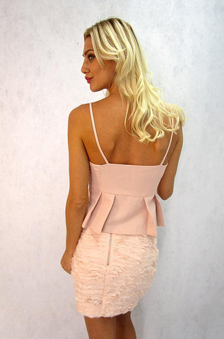 Endless Rose - Pleated Lois Halter Top - Cimiche