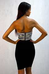 Oboe - Sleeveless Crop Top with Chevron Design - Cimiche