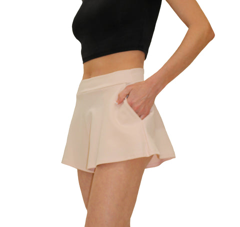 Solemio Pink Stretch Shorts