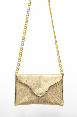 JJ Winters Brooke Crossbody Gold Purse - Cimiche