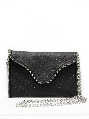 JJ Winters Brooke Crossbody Black Dot Zip Purse - Cimiche