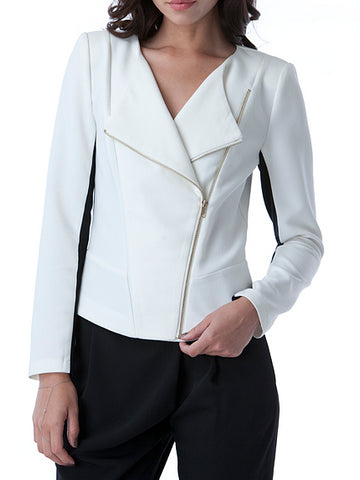 Mustard Seed - White Soft Jacket with Black Accents - Cimiche