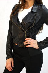 On Twelfth - Black Jacket with Gator Pattern - Cimiche