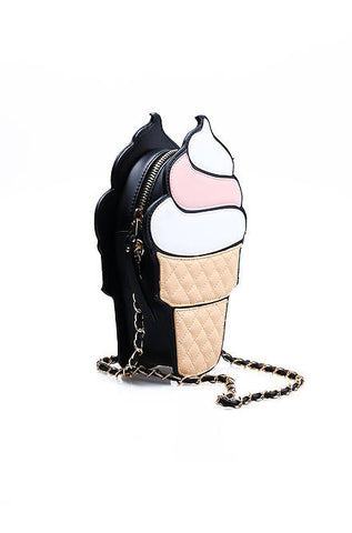 Nila Anthony Handbags - Soft Serve Pink Ice Cream Cone Purse - Cimiche