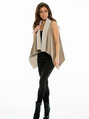 Elan Women's Faux Shearling/Suede Vest with a Soft Woolly Feel Lining - Cimiche