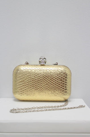 Iconic Gold Purse with Skull Clasp - Cimiche