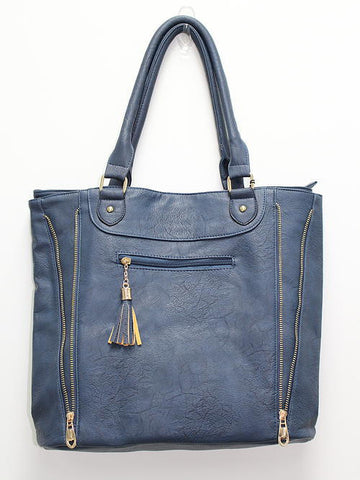 Fashion Tote Purse-Blue - Cimiche