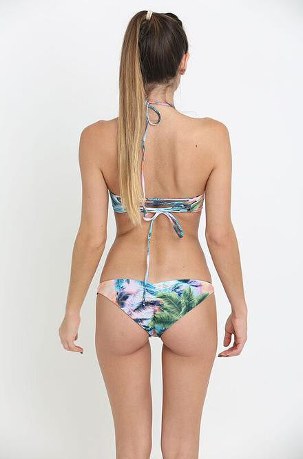 Reversible Blue Tropical Bikini - Cimiche