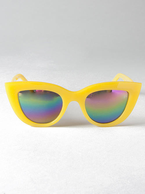 Quay Kitti Yellow Frame Sunglasses - Cimiche