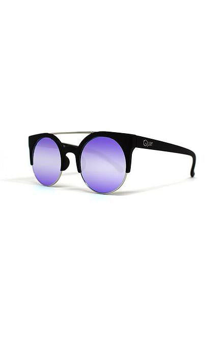 Quay Livnow Black with Purple Mirror Lens - Cimiche