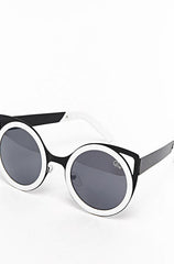 Quay Let's Dance Black White Frame Sunglasses - Cimiche