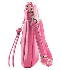 Nila Anthony Handbags - Pink Moto Jacket Style Crossbody Clutch - Cimiche