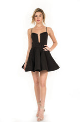 Luxxel  Fit and Flare Black Dress - Cimiche