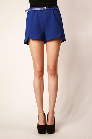 Royal Blue Shorts with Belt