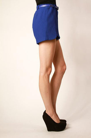Royal Blue Shorts with Belt - Cimiche