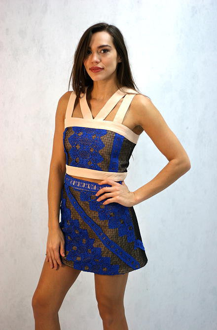 Endless Rose - Lace Skirt in Blue - Cimiche