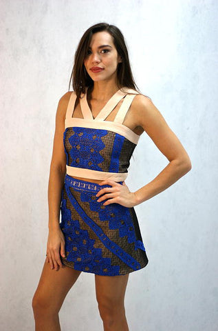 Endless Rose - Lace Crop Top in Blue - Cimiche