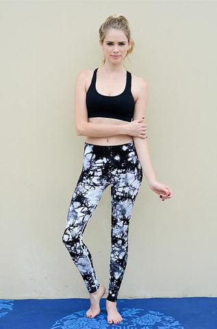 Black Tie Dye Yoga Pants - Cimiche
