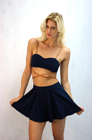 L'atiste - Two Piece Navy Skort Set - Cimiche