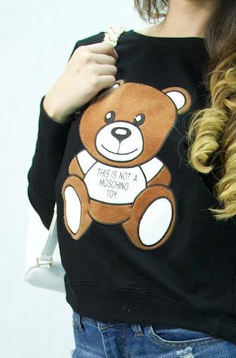 Mosch Bear Black Sweatshirt - Cimiche
