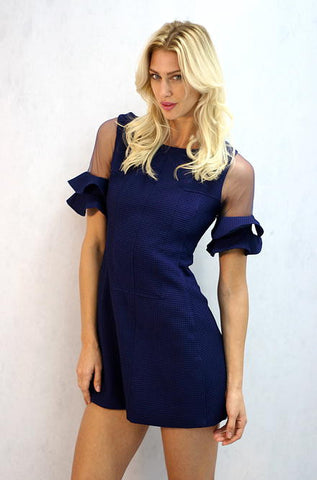 L'atiste Thrills for Frills Dress in Navy - Cimiche