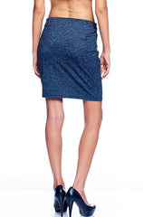 On Twelfth - Side Zip Grey Skirt - Cimiche