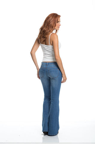 Elan - Stretch Jeans with Flair Leg - Cimiche